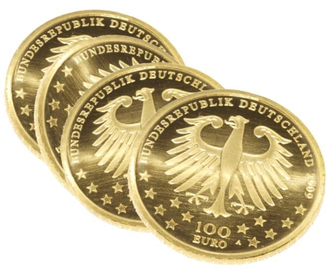 100 Gold-Euro Gedenkmünze Währungsunion - Einführung des Euro