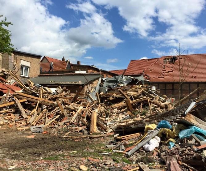 Bützow Tornadoschaden Immobilie © Marco Kaschuba