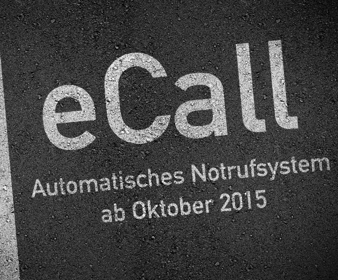 eCall (emergency call) elektronisches Notrufsystem für Kraftfahrzeuge