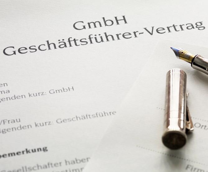 GmbH Geschäftsführer-Vertrag © Fotolia.com