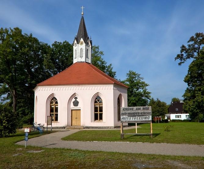 Achteckige Kirche in Dannenwalde - Gebaut 1821