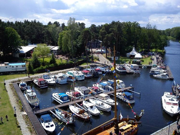Hafenfest 2012 - Blick auf den Yachthafen - Marina Havelbaude