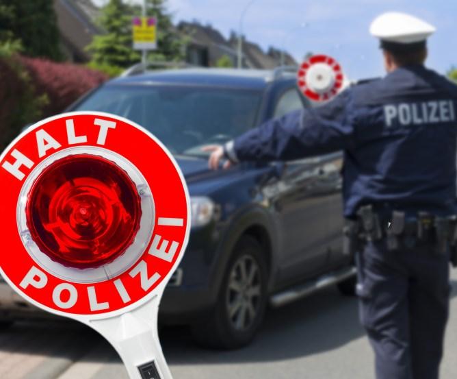 Polizeikontrolle Handy am Steuer