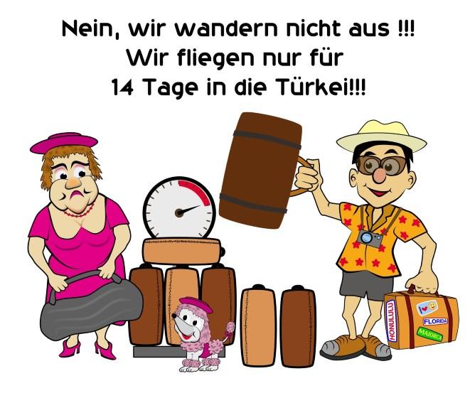 Karikatur Urlaub in der Türkei